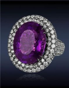 Amethyst Diamond Ring l Jacob and Co