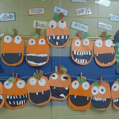 october crafts for kids What We've Been Doing! Plus a Freebie! Halloween Art Projects, Halloween Crafts For Toddlers, Theme Halloween, Halloween Activities, Fall Halloween, Halloween Crafts Kindergarten, Halloween Pumpkins, Funny Pumpkins, Pumpkin Crafts