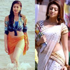 Pranitha hot milky body in saree and hot wet body in bikini