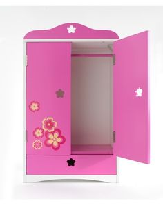 Wooden Armoire Furniture For 18 Inch Play Dolls. This fantastic wooden armoire is the perfect way to organize your 18-inch Play Doll's fashions and accessories.