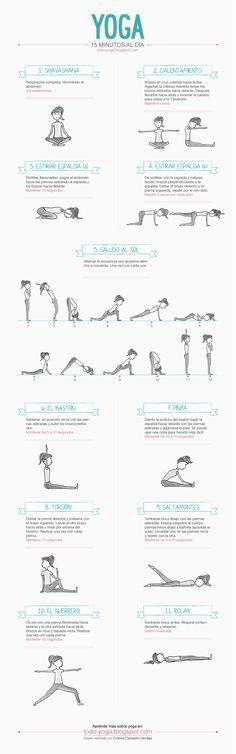 Infografía de Yoga/15 minutos al día.
