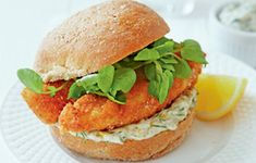Fish Finger Butty with Lemony Mayo