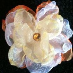 Hand made flower clips