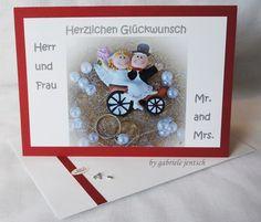"""Hochzeitskarte """"Paar""""  von PHOTOGLÜCK auf DaWanda.com"""