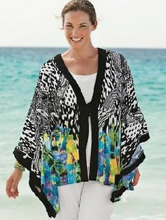 patterns jackets made from silk | Free Online Coupons: Beautiful Kimono Style Plus Size Clothing