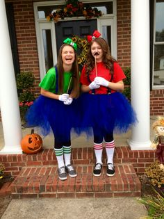 Mario and Luigi Halloween Costume Teen Girls