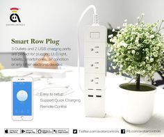 Perfect for plugging LED light tablets smartphones air conditioner or any other electronic devices. .  http://amzn.to/2j3zB7j #powerstrip #workswithalexa #wireless