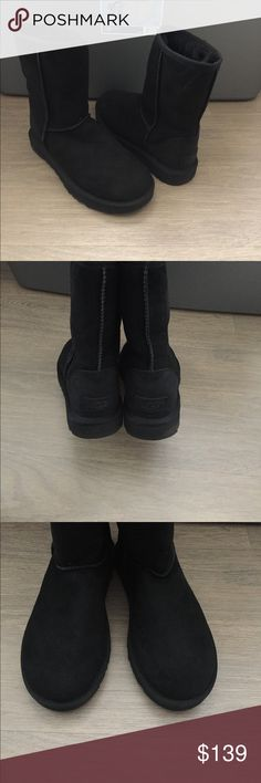 UGG Classic Short Boots 7 Like new worn twice. Size 7. UGG Shoes Winter & Rain Boots