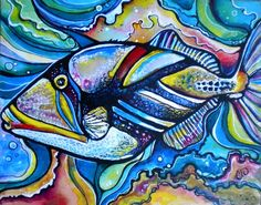 trigger fish by Colleen Wilcox