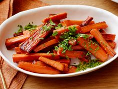 Glazed Carrots recipe from Damaris Phillips via Food Network