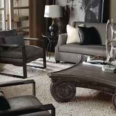 Morgana Sofa | Axel | Capitol Cocktail Table | Ariana Side Table #design #GlenandJamie #furniture