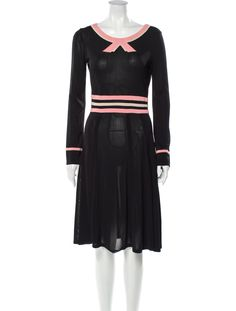 Bateau Neckline, Dress Outfits, Dresses, Body Measurements, Marc Jacobs, Clothes For Women, Long Sleeve, Black, Fashion
