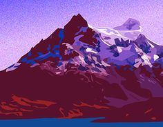 """Check out new work on my @Behance portfolio: """"Mountain"""" http://be.net/gallery/46996091/Mountain"""