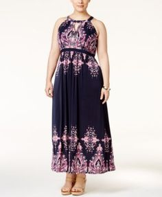 INC International Concepts Plus Size Printed Maxi Dress, Only at Macy's | macys.com