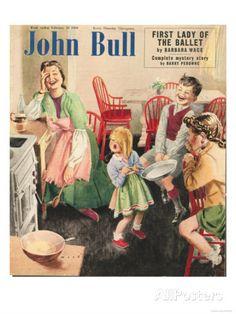 John Bull, Cooking Pancakes Magazine, UK, 1950 Giclée-Druck bei AllPosters.de