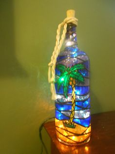 Check out this item in my Etsy shop https://www.etsy.com/listing/220837591/palm-tree-inspired-stained-glass-look