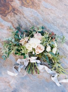 Wedding Ideas: Expert Designer Jessica Sloane on the Fate of Slate - bridal bouquet; Austin Gros
