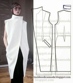 Raised neck pattern for quilt coat
