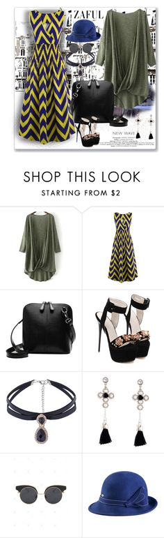 """Zig Zag Dress-zaful.com"" by ane-twist ❤ liked on Polyvore featuring zaful"