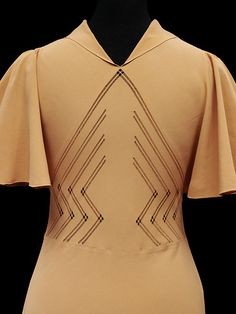 Afternoon dress | Madeleine Vionnet | V mid 1930's