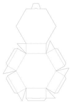 Blank sixsided printable box template aka hexagon hexagonal I would add sides to the lid for more stability Found by clicking on the words Hexagon Box below the pictures. Paper Gift Box, Paper Gifts, Paper Boxes, Gift Boxes, Paper Toy, Diy Paper, Hexagon Box, Hexagon Sides, 3d Templates