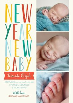 birth announcement new year cards view source let the coming year to be glorious one that rewards all your future endeavors with success