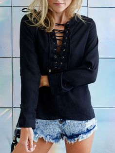 Shop Black Long Sleeve Tie Blouse online. SheIn offers Black Long Sleeve Tie Blouse & more to fit your fashionable needs.