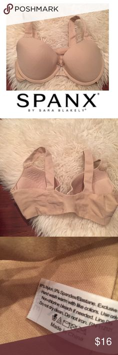 Spanx Bra-Llelujah Beige Front Clasp Bra Spanx Bra-Llelujah Beige Front Clasp Bra. Amazingly comfortable bra that is pretty pricey and well worn it. This one has some piling but very good condition. Feel free to make an offer or bundle and save! SPANX Intimates & Sleepwear Bras