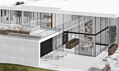 Villas, Interior Design Renderings, Interior Design Presentation, Boffi, Workplace Design, Facade House, House Layouts, Cool House Designs, Minimal Design