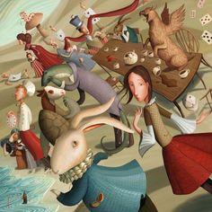ALICE IN WONDERLAND BY VARYA KOLESNIKOVA