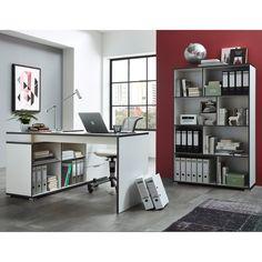 Bureau angle 140130 x 60 x 88 cm blanc laqu Meubles bon prix