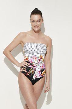 Reflections yeni sezon mayo #mayo #strapless #swimwear #swimsuit #new #dots #flowers
