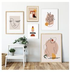 Fine One Line Art Drawing, Mid Century Modern Gallery Wall, Abstract Wall Art Print Set, Woman Silhouette Lashes Boho Wall Decor For Bedroom - Sarina Abstract Wall Art, Canvas Wall Art, Wall Art Prints, Wall Paintings, Abstract Painting Modern, Wall Art Posters, Quote Wall Art, Art Deco Wall Art, Cool Wall Art
