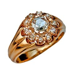 Dated 1868 Diamond Cluster Men's Ring