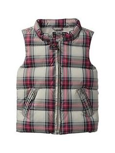 Gap plaid puffer vest