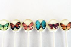 Butterfly ball style edible images hard candy lollipop - 6 pc. - MADE TO ORDER. $10.50, via Etsy.