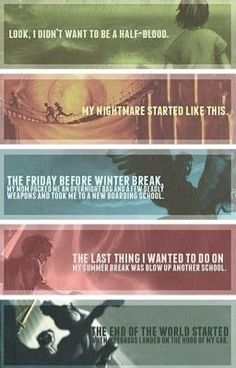"First sentence of each book of the ""Percy Jackson and the Olympians"" series. Percy Jackson and the Lightning Thief is an epic fantasy with a mix of Greek mythology. Percy Jackson Quotes, Percy Jackson Books, Percy Jackson Fandom, Funny Percy Jackson, Percabeth, Solangelo, The Blue Boy, Rick E, Trials Of Apollo"