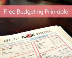 budgeting printable photo