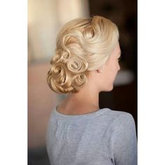 39 Elegant Updo Hairstyles for Beautiful Brides ❤ liked on Polyvore featuring hair