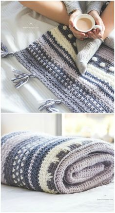 Crochet blanket patterns free 556968678914441950 - I have rounded up some of the best and interesting free patterns for your home.Winter Tempest Blanket – Crochet Pattern Source by Knit Or Crochet, Crochet Crafts, Easy Crochet, Crochet Hooks, Crochet Baby, Crochet Projects, Blanket Crochet, Crotchet, Crochet Ideas