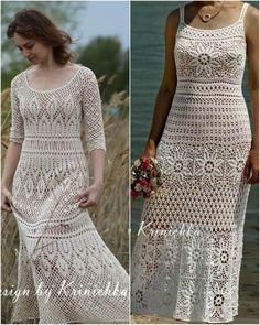 Crochet Wedding Dresses, Crochet Summer Dresses, Crochet Blouse, Knit Dress, Crochet Top, Long Shirt Dress, Thread Crochet, Crochet Fashion, Crochet Designs
