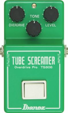 The Ibanez TS808 Vintage Tube Screamer Reissue is back. This is the incomparable overdrive pedal that vintage gear hounds are always hoping to find. The 2004 TS808 reissue features the same famous square footswitch and the warm tones of the JRC4558 chip used in most of the original TS808s. Ignore look-alikes. If your tone is suffering from a lack of real warmth, the TS808 is the real, nongeneric prescription.  #tubescreamer #pedal #ibanez #tone