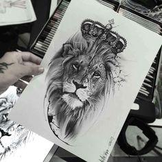 Lion Tattoo Templates - Tattoos For Men: Best Men Tattoo Models Model Tattoos, Leo Tattoos, Future Tattoos, Animal Tattoos, Body Art Tattoos, Girl Tattoos, Tattoos For Guys, Tatoo Art, Arm Tattoo