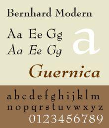 """Questo font: """"Bernhard Modern"""" potrebbe essere adatto al mio poster."""