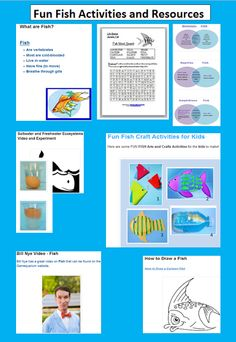 Learning Ideas - Grades K-8: Fish Activities and Resources for Elementary Education