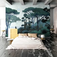Discover recipes, home ideas, style inspiration and other ideas to try. Kitchen Feature Wall, Design Scandinavian, 3d Wallpaper Mural, Mural Wall Art, Mural Painting, Asian Decor, Cool Paintings, Interiores Design, Fresco