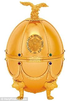 This £4,500 24-carat gold egg once enjoyed by 19th Century St Petersburg aristocracy  is perfect for demanding recipients this Christmas