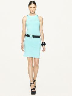 Stretch Silk-Blend Dress - Black Label  Sale - RalphLauren.com