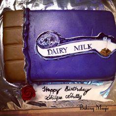 Chocolate lover's delight! #chocolatecake #cadburys