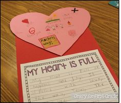 Crazy for First Grade: My Heart is Full {a writing freebie}